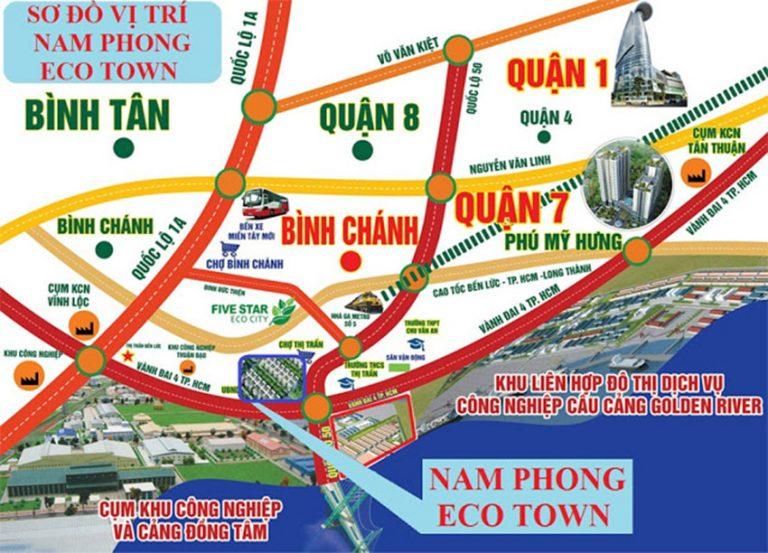 Sơ đồ đường đi Nam phong Eco Town