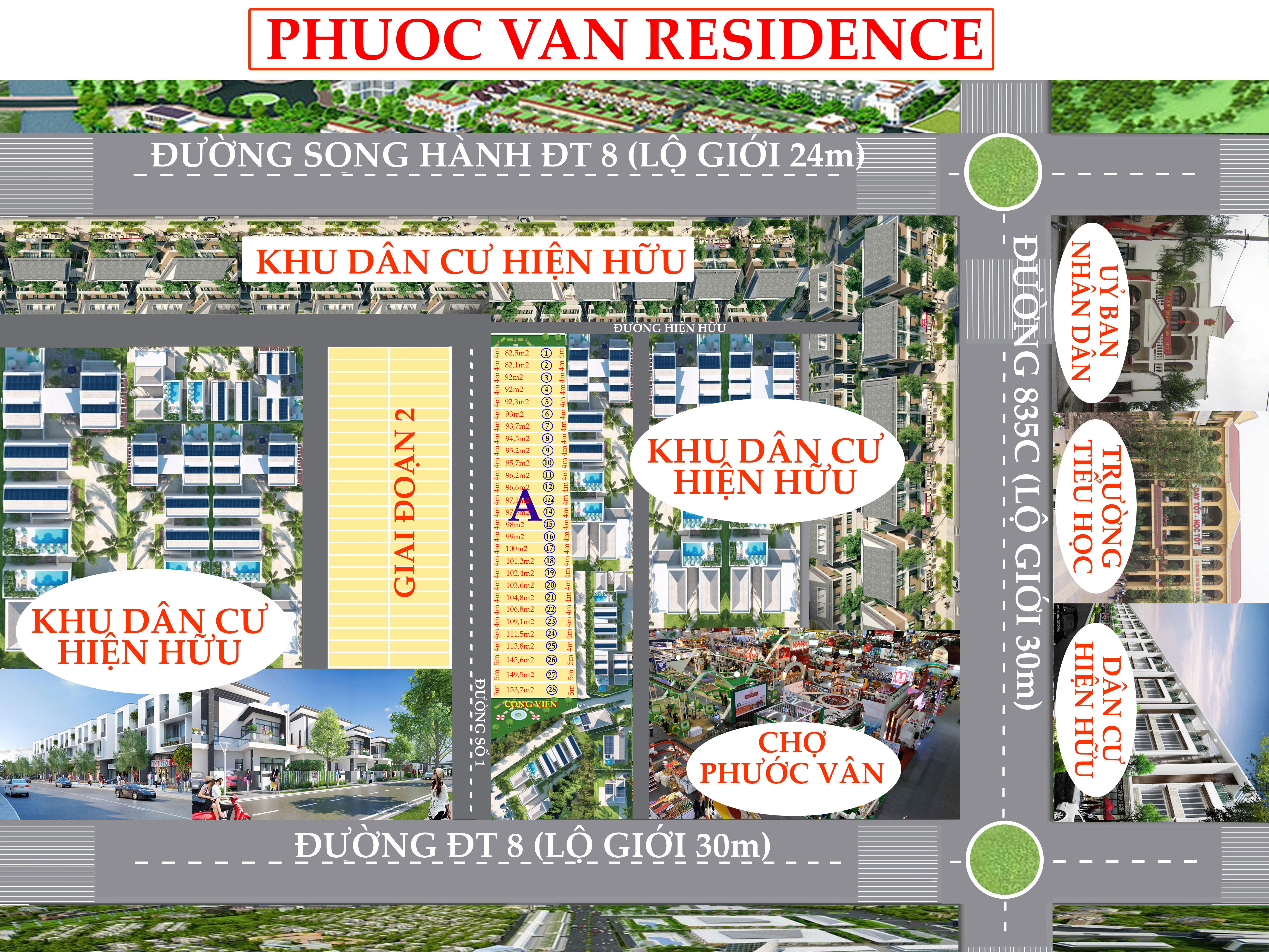 sơ đồ dự án Phước Vân Residence