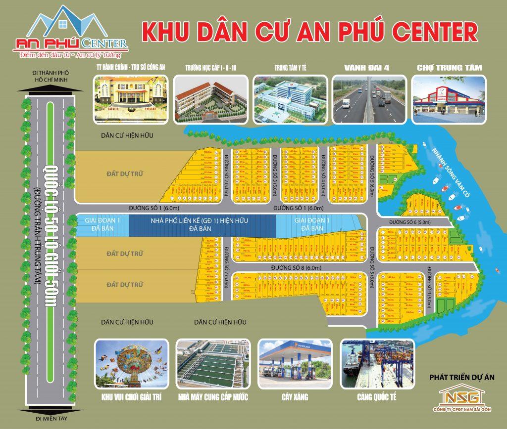 Sơ đồ phân lô khu dân cư An Phú Center