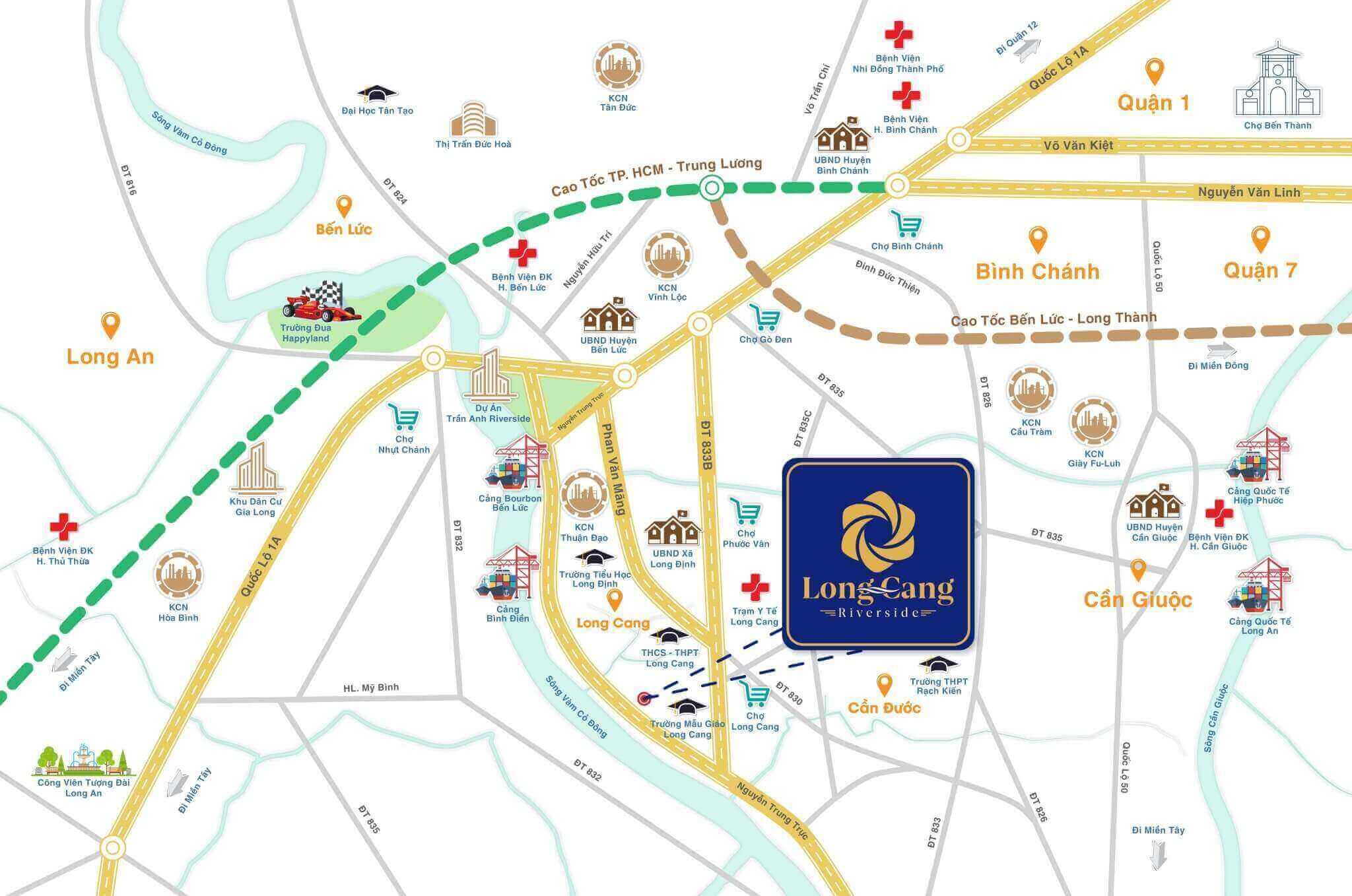 Vị Trí dự án Long Cang RiverPark