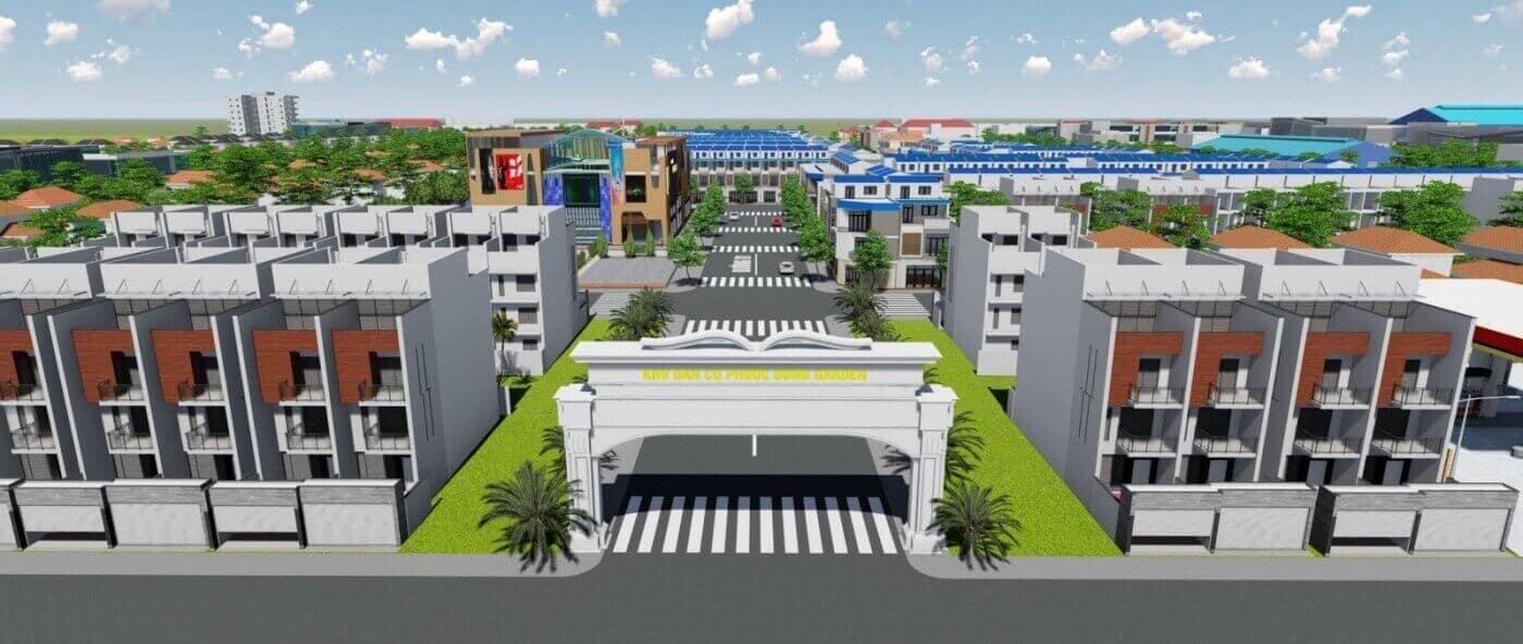 Phối cảnh dự án Phước Đông Garden